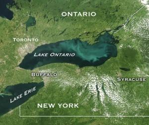lago ontario satelite