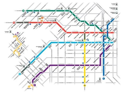mapa metro buenos aires