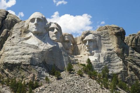 montanha rostos presidentes